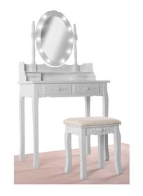 Toaletka biała drewniana kosmetyczka LED W08H123 Tobi Toys 590121056695