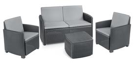 Zestaw ogrodowy Garden sofa box kawowy 2 fotele