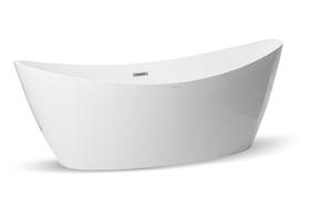 Wanna wolnostojąca biała owalna 177 x 82.5 cm + syfon SEA