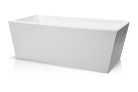 Wanna wolnostojąca biała przyścienna 170 x75 cm z Syfonem VENUS