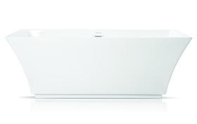 Wanna wolnostojąca biała akrylowa owalna 170 x 60 cm system przelewowy + syfon Grand
