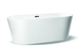 Wanna wolnostojąca biała akrylowa 170 x 80 cm system przelewowy owalna Comfort