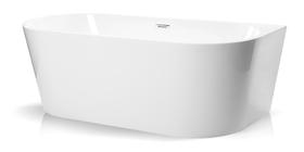 Wanna wolnostojąca biała akrylowa 170 x 75 cm przyścienna + syfon SWIM