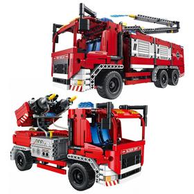 Klocki TECHNIC 2w1 Wóz Strażacki 1288 elementów