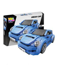Niebieski pojazd dla dzieci z klocków Dream Car klocki TOBI TOYS©