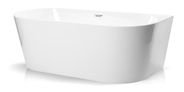 Wanna wolnostojąca biała akrylowa 170 x 75 cm przyścienna + syfon SWIM (1)