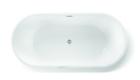 Wanna wolnostojąca biała akrylowa 170 x 80 cm system przelewowy owalna Comfort (7)