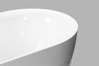 Wanna wolnostojąca 170 x 75 cm biała owalna akrylowa + syfon BARI (7)