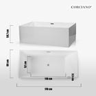Wanna wolnostojąca biała akrylowa 170 x 80 cm + syfon SMART (9)