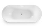 Wanna wolnostojąca biała owalna 170 x 80 cm + syfon MALTA (7)