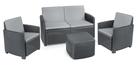 Zestaw ogrodowy Garden sofa box kawowy 2 fotele (1)