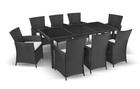 Zestaw Mebli Ogrodowych Rattanowych Bahama Set Max 8 Krzeseł EUROHIT Garden (1)