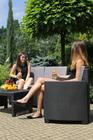 Zestaw ogrodowy Garden sofa box kawowy 2 fotele (2)