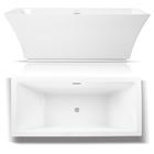 Wanna wolnostojąca biała akrylowa owalna 170 x 60 cm system przelewowy + syfon Grand (2)