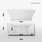 Wanna wolnostojąca biała akrylowa owalna 170 x 60 cm system przelewowy + syfon Grand (8)